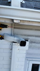 how to reattach downspout