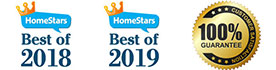 Best of Homestar 2018 and 2019 Eaves & Gutter company - Solid Eavestrough + Customer's Satisfaction 100% Guarantee seal
