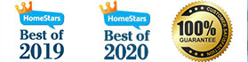 Best of Homestar 2019 and 2020 Eaves & Gutter company - Solid Eavestrough + Customer's Satisfaction 100% Guarantee seal
