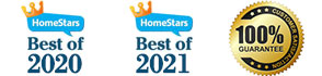 Best of Homestar 2020 and 2021 Eaves & Gutter company - Solid Eavestrough + Customer's Satisfaction 100% Guarantee seal